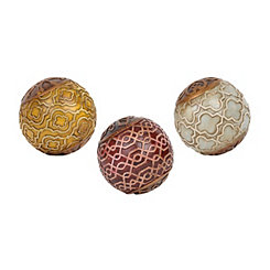 Jewel-Tone Medallion Orbs, Set of 3