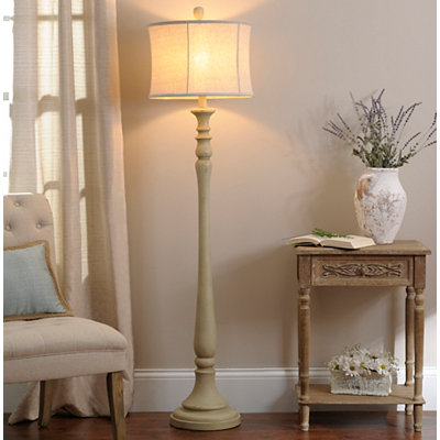 Sandy Cream Floor Lamp