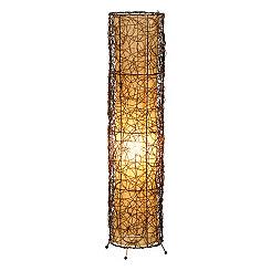 Woven Cane Floor Lamp