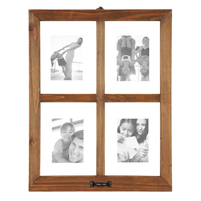 Wooden Window Pane Collage Frame