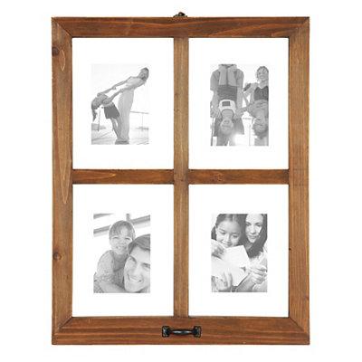 Wooden Window Pane Collage Frame
