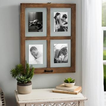 wooden window pane collage frame kirklands - Window Pane Frame