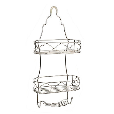 Chrome Quatrefoil Shower Caddy