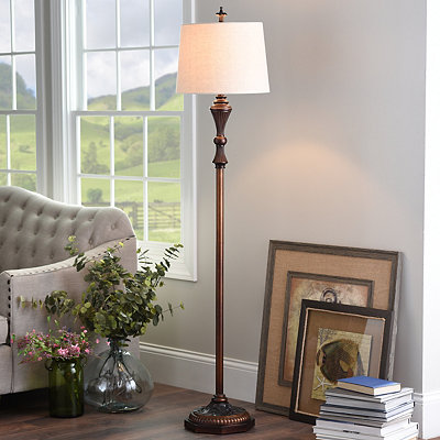 Bronze Knight Floor Lamp
