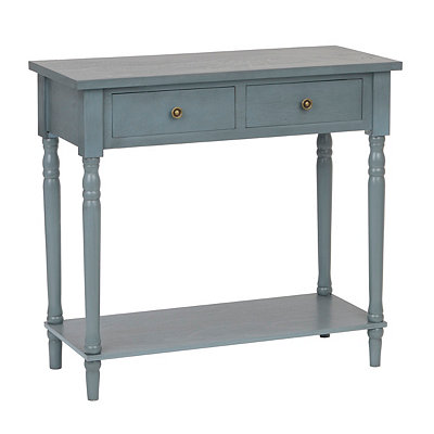 Painted Blue Console Table