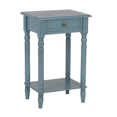 Painted Blue Side Table