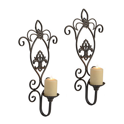 French Quarter Fleur-de-Lis Sconces, Set of 2