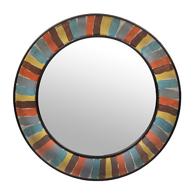 Color Swatch Round Metal Mirror