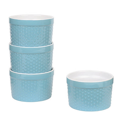 Light Blue Ramekins, Set of 4