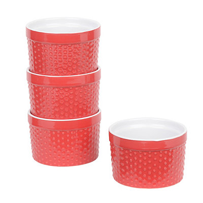 Red Ramekins, Set of 4