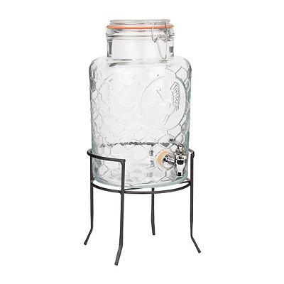 Glass Rooster Beverage Dispenser