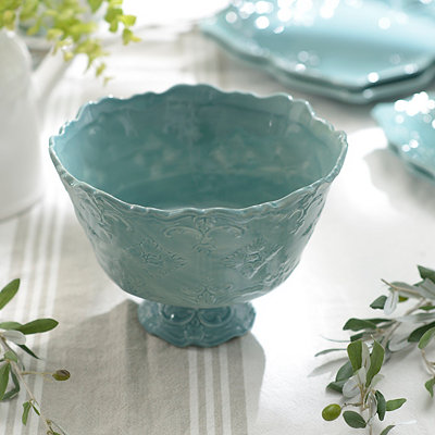Turquoise Sweet Olive Serving Bowl