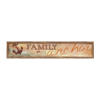 Family Is Our Anchor Framed Art Print
