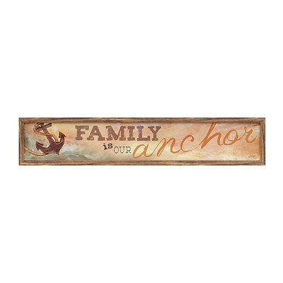 Family Is Our Anchor Framed Art Print