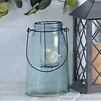 Small Blue Glass Lantern