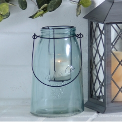Small Blue Glass Lantern