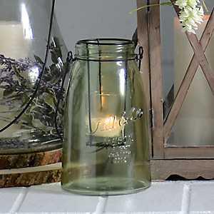Small Green Glass Lantern
