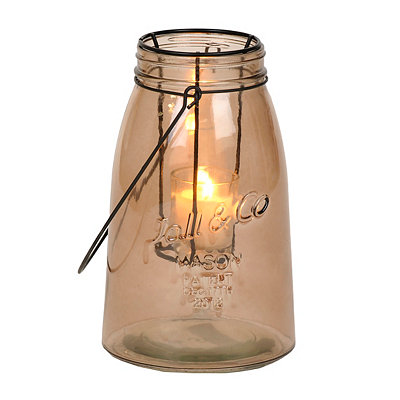 Small Brown Glass Lantern