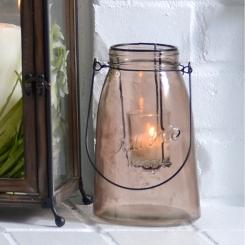 Small Brown Glass Lantern