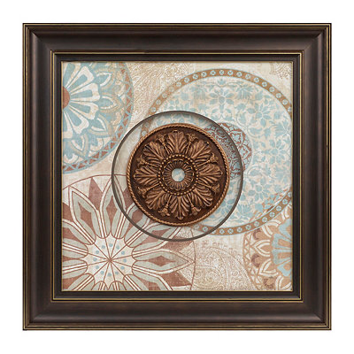 Aqua & Spice Medallion Shadowbox