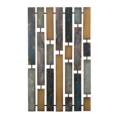 Abstract Path Metal Plaque