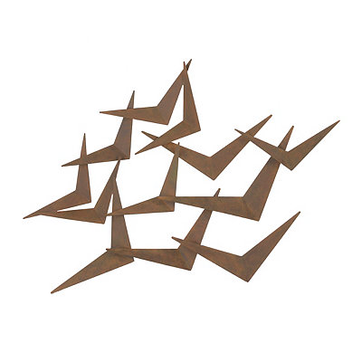 Abstract Wings Metal Plaque