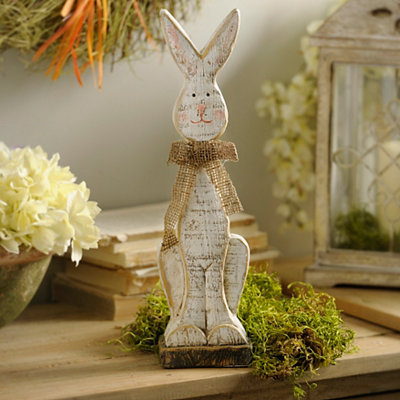 Distressed Easter Bunny Boy Statue