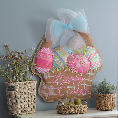 Burlap Happy Easter Sign