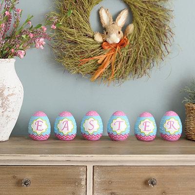 Mini Monogram Easter Eggs, Set of 6