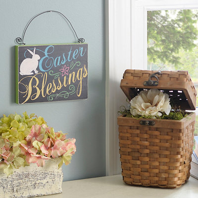 Easter Blessings Wooden Sign