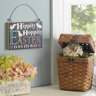 Hippity Hoppity Wooden Sign