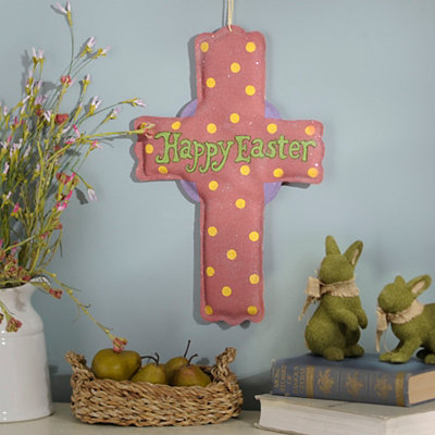 Faith Glitter Burlap Cross