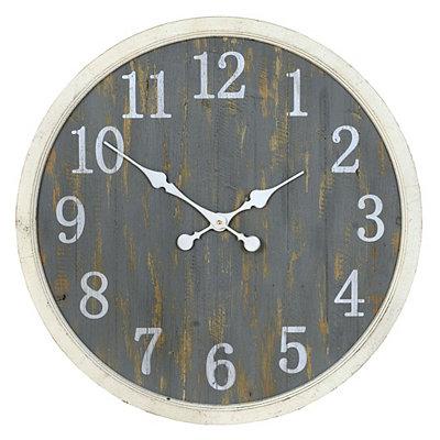 Distressed Blue Beadboard Clock