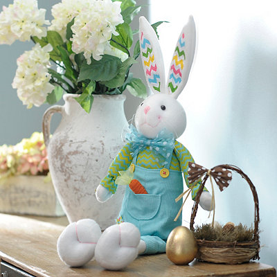 Plush Easter Bunny Boy Sitter