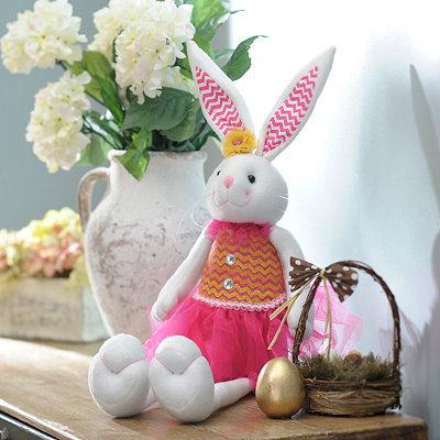 Plush Easter Bunny Girl Sitter