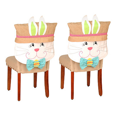 Easter Bunny Boy Chair Covers, Set of 2