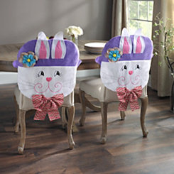 Easter Bunny Girl Chair Covers, Set of 2