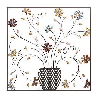 Olivia Stone Floral Square Metal Plaque