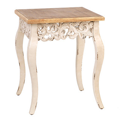 Ivory Baroque Accent Table