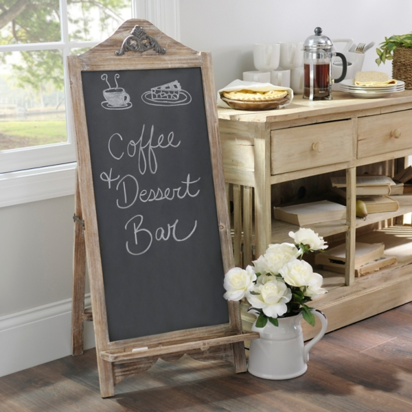 Weathered Natural Chalkboard Easel