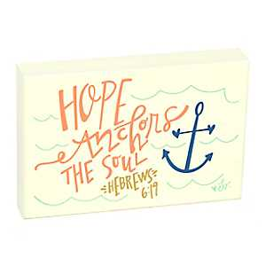 Coastal Hope Anchors the Soul Wooden Plaque