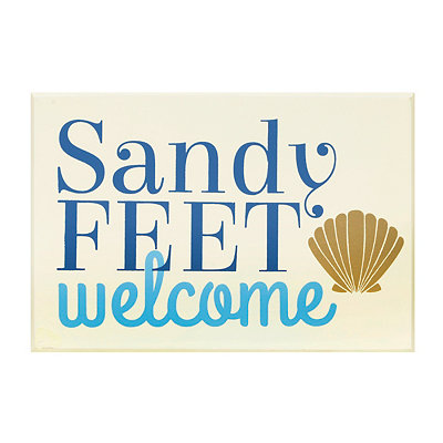 Sandy Feet Welcome Wooden Sign