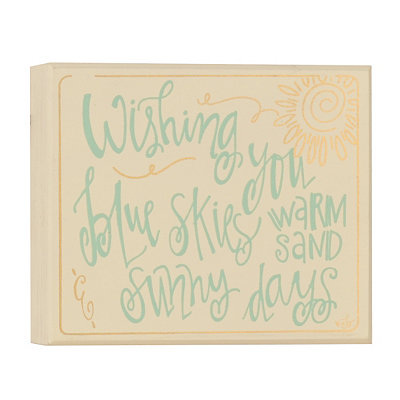Sunny Day Wishes Wooden Plaque