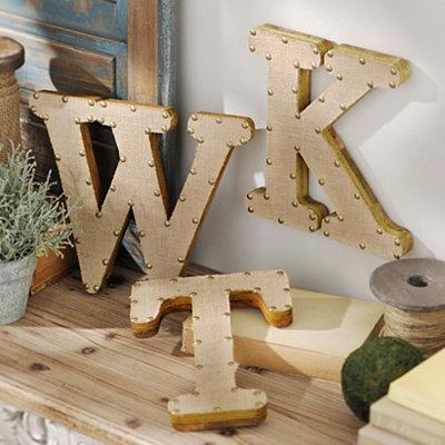Burlap Monogram Wooden Plaques