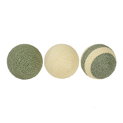 Green Jute Orbs, Set of 3