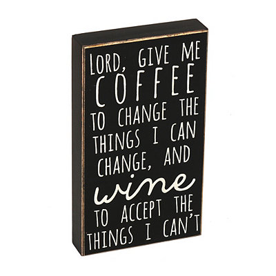 Give Me Coffee & Wine Wooden Sign