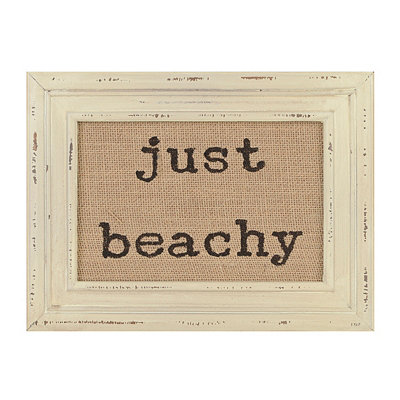 Just Beachy Burlap Framed Art Print