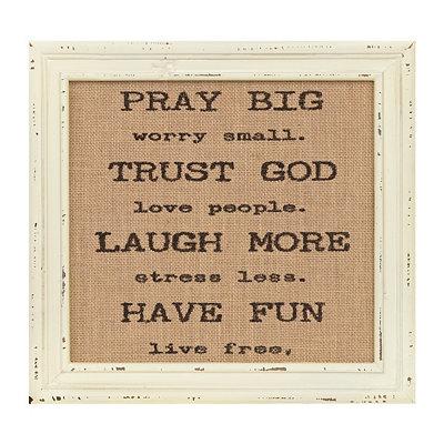 Pray Big Framed Plaque