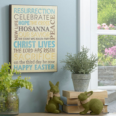 The Lord Has Risen Wooden Sign