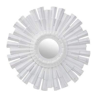 White Alva Sunburst Mirror
